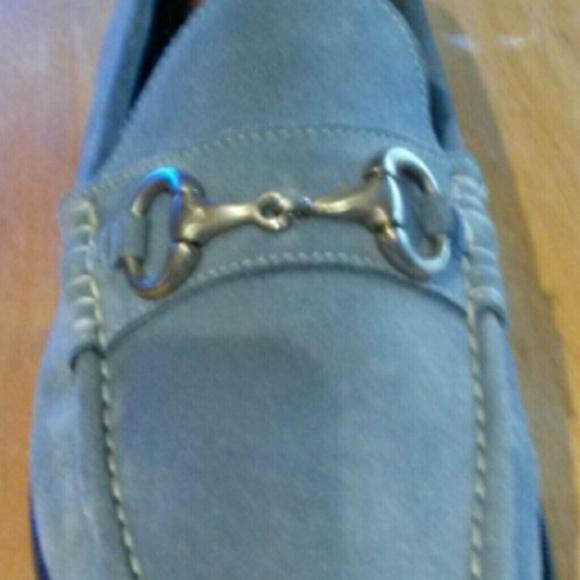 Mens Florsheim Light Blue Suede Shoes